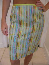 CYNTHIA STEFFE MULTICOLORED  SKIRT WITH EMBROIDED DESIGN SIZE 4
