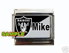 Oakland Raiders w/ Any Name Custom Italian Charm NFL