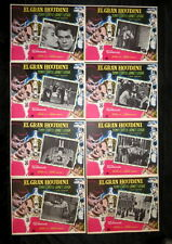 """""""HOUDINI"""" TONY CURTIS JANET LEIGH GEORGE PAL UNUSED MEXICAN LOBBY CARD SET 1953"""