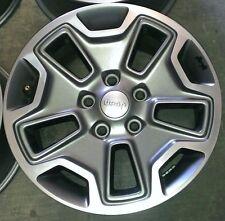 """07-12 13 14 15 16 Jeep Wrangler Rubicon 17"""" alloy wheels rims 5x5 set of 5"""