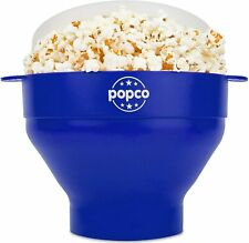 Silicone Microwave Popcorn Popper w/Handles, Silicone Popcorn Maker, Collapsible
