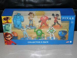 Mattel Disney Pixar Collector 9-pack figure set Woody Buzz Sulley Nemo NEW