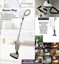 12 in 1 Hot Steam Mop Cleaner Handheld Steamer Floor Carpet Window Washer Sweep
