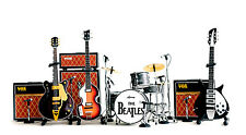 The Beatles Miniature Guitar Ed Sullivan Set of 4 Guitar & Drums & Amps + Mics