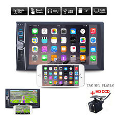 6.6inch Touch TFT Monitor 2-DIN Blueteeth Car MP3 Video Player USB FM + Camera