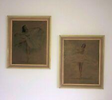 Vintage Monte Framed Ballerinas Art Prints
