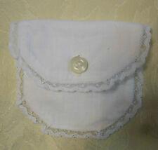 sacchetto bianco bottoncino madreperla cm. 7x8 (2) B8 ^