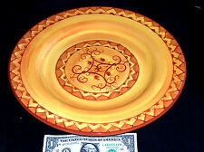 "Pier 1 One Imports Karistan 13"" Hand Painted Earthenware Serving Plate Platter"