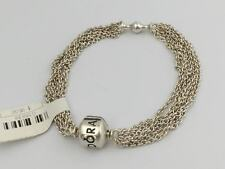 "Authentic Pandora Multi-Strand One Clip Capture Bracelet, 8.3"" 590701-21 New"