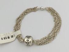 "Authentic Pandora Multi-Strand One Clip Capture Bracelet, 8.3"" 590701-21 New"