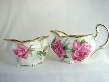 New listing Vintage Royal Stafford English Bone China Berkley Rose Pattern Cream & Sugar Set