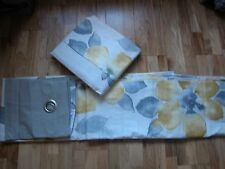 """NEXT YELLOW OCHRE FLORAL BLOOM WATERCOLOUR FLORAL CURTAINS EYELET LINED 53X 90"""""""