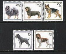 Germany 1995 Dogs Munsterlander Wolf Spitz Schnauzer Sc B779-783 Mnh