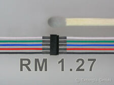 Mini-Stecker set 5-polig RM 1,27 +Litze Steckverbinder connector +litz wire