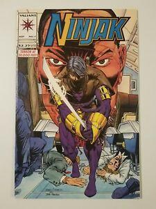 "Ninjak #7 NM/MT (Valiant,1994) Mark Moretti & Dan Abnett ""Fire And Forget!"" RARE"
