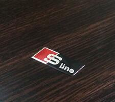 1pcs Black Mini Sline Steering Wheel Car Badge Sticker Decal Logo Fits for Audi