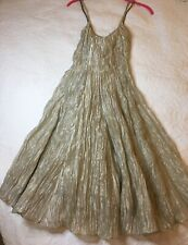 RALPH LAUREN Metallic Silver Fit & Flare Cocktail Dress - Size 4 - NEW w/Tags