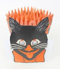 Vintage Halloween 1920's Cat Face Mask & Hat w/ Honeycomb