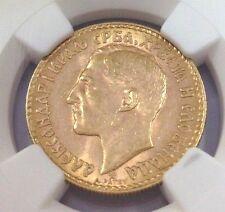 Yugoslavia 1925 Gold Coin 20 Dinara Alexander I NGC MS 63