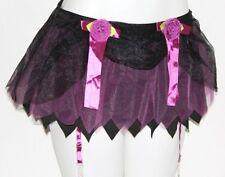 XS Lolita Gothic Goth Burlesque Emo Cosplay Crinoline Garter Belt Mini SKIRT