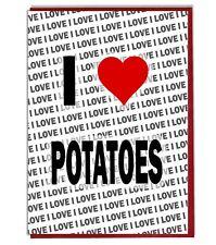 Greeting Card - Birthday Card - I Love Potatoes