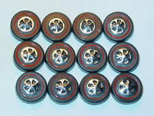 Hot Wheels Redline REPRO WHEELS Large Black Cap Set of 12 -New Mold!