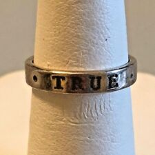 """""""TRUE LOVE WAITS"""" STERLING SILVER  RING BAND. SIZE 5."""