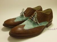 Cole Haan Colton Air 10.5 D patina green leather coffee Brown excellent cushion