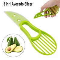 Avocado Slicer Plastic Split Cutter Peeler 3-in-1 Kitchen Fruit Tool Green Knife