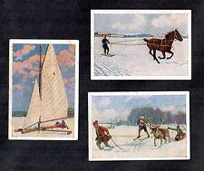 Winter Sports Josetti 1930 Card Mini Set Ski Snowboard Ice Yacht Horse Reindeer