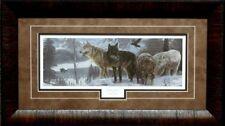 Richard Wayne Broken Silence Wolves Art Print-Framed 23 x 13