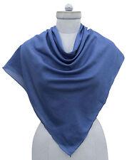 Cotton Solid Scarf Square Neck Wrap Fashion Women Bandana Soft Scarves -MSFC1A