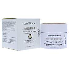 BareMinerals mantequilla Crema Crema hidratante facial Drench restaurador Rico 1.7 OZ