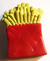 McDonald's French Fries Lapel Pin - Fast Junk Food Fried Potatoes Red Yellow Pin