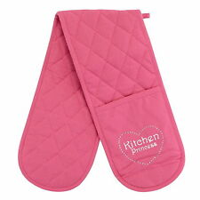 100% Polyester Contemporary Double Oven Mitts & Pot Holders