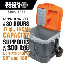 Klein Tools 55600 Work Cooler, 17-Quart Lunch Box Holds 18 Cans, Keeps Cool 30 h