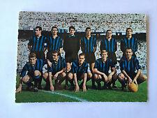 INTER FC  CARTOLINA FORMAZIONE SCHIERATA ANNO 1961-1962 EDIZIONI GIESSE MILANO