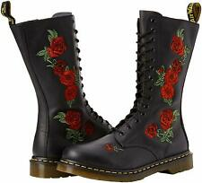 Women's Shoes Dr. Martens 1914 VONDA 14 Eye Floral Leather Boots 12761001 BLACK