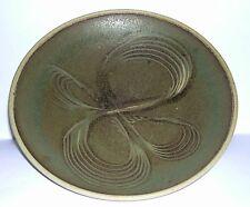 Studio Stoneware Pottery - Sgraffito Work Large Footed Bowl - Good Design.