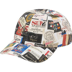 NWT SUPREME LABELS 6-PANEL HAT WHITE SS21