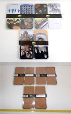 BEATLES cuadros de metal 12 Lps imágenes 8x8 cm. en blister.