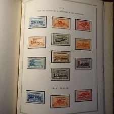 COLLECTION TIMBRE MAROC 1893/1952 TUNISIE 1888/1958 DANS UN  ALBUM MOC 87 PHOTOS