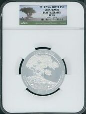 2013-P GREAT BASIN AMERICA BEAUTIFUL ATB 5 OZ. SILVER NGC SP69 EARLY RELEASES ER