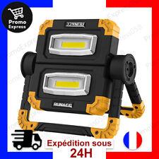 Projecteur LED Rechargeable Chantier 20W 1500LM Lampe Travail Lanterne Portable
