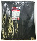 """1000 Black 14"""" Inch Nylon Cable Wire Wrap Zip Ties 50 LBS UV Resistant - USA"""