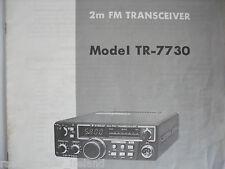 Kenwood tr-7730 (Genuino Manual sólo)............ radio_trader_ireland.