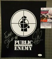 Chuck D & Flavor Flav Signed 11x14 Photo JSA COA Public Enemy Autograph