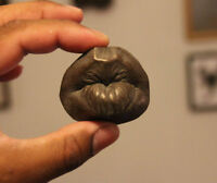 bronze male kissing lips fridge maganet - oddity - curiosity
