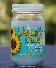 16 oz.Alliestallow Candles Soy/Paraffin Blend- Aqua de Gio