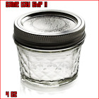 4 Oz Ball Mason Jar Lids Bands Canning Quilted Jelly Spice Jars Regular Mouth